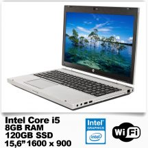 HP EliteBook 8570p /Core i5 3360M /8GB RAM/120GB SSD/DVD